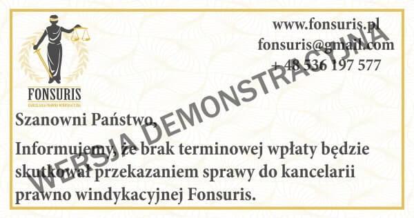 pieczęć windykacyjna fonsuris